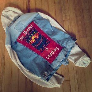 Hand Painted 1984 George Orwell Denim Jacket